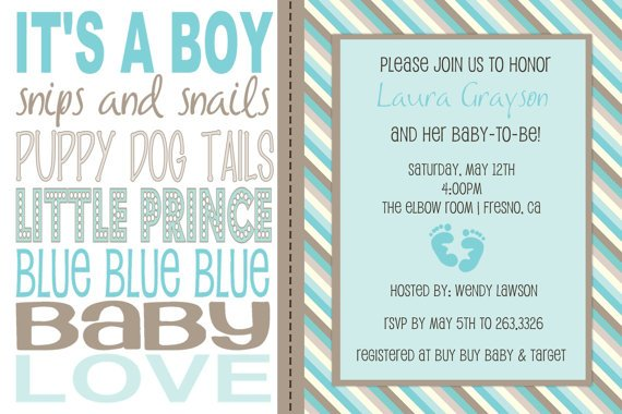 Baby Shower Invitation Wording for a Boy FREE Printable Baby