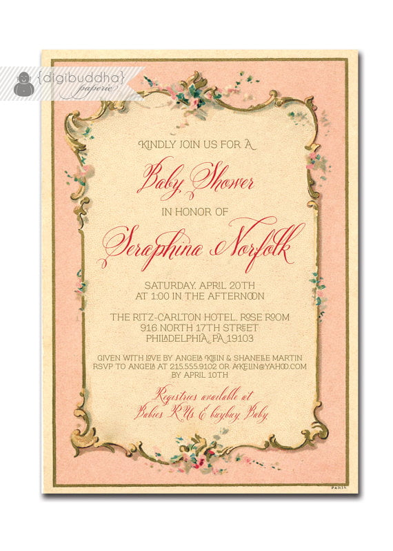 Elegant Cheap Baby Shower Invitations For Girl