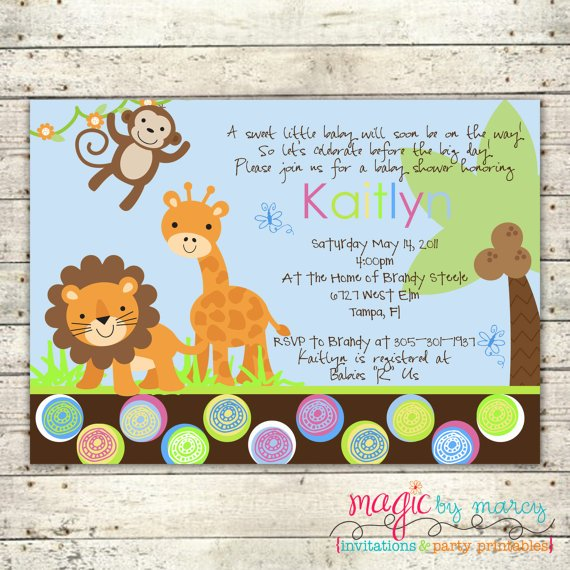 safari themed baby shower invitations  baby shower for parents, Baby shower