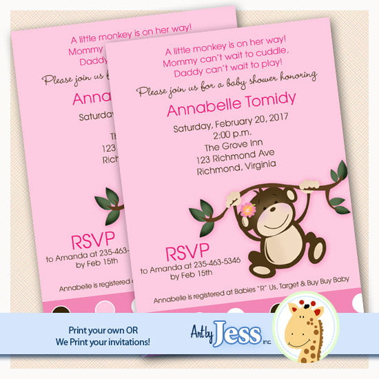 pink how to make your own baby shower invitations