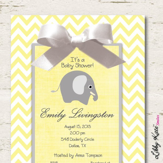 chevron affordable baby shower invitations