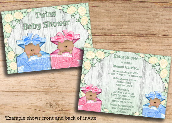 bear affordable baby shower invitations