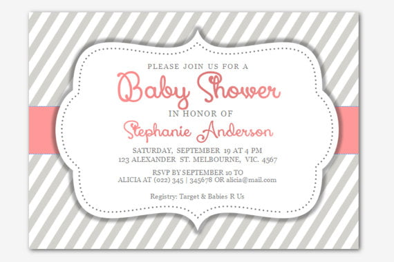plain free baby shower invitation templates for word
