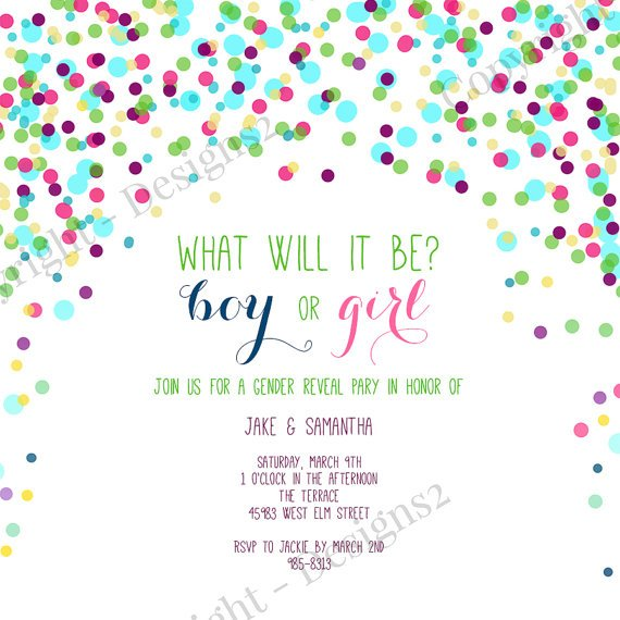 sprinkles reveal baby shower invitations