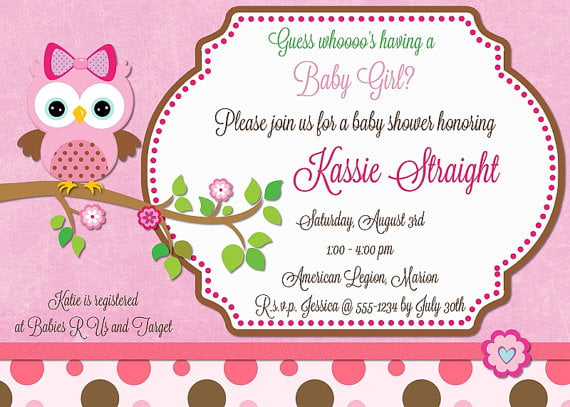 owl how to make your own baby shower invitations