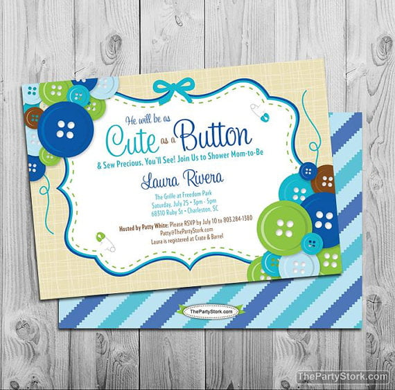 blue make your own baby shower invitations