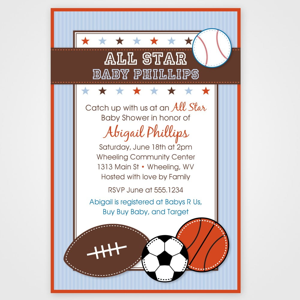 sport free baby shower invitation templates for word