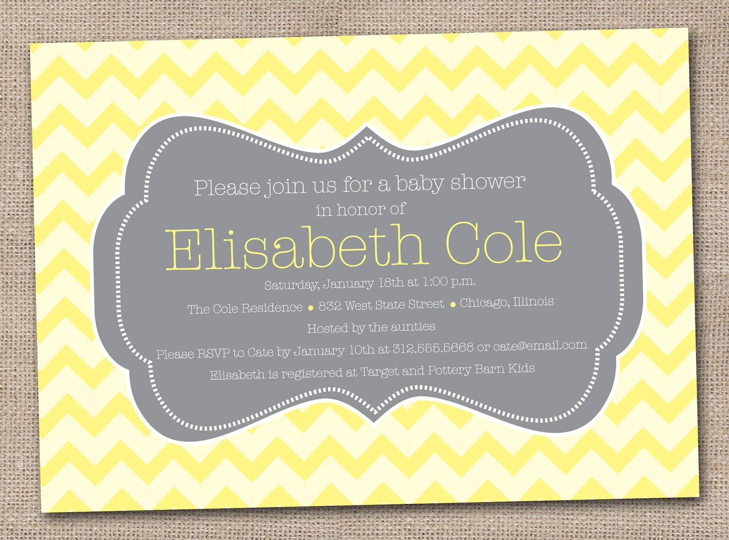 Yellow and gray baby shower invitations free printable baby shower chevron yellow and gray baby shower invitations filmwisefo