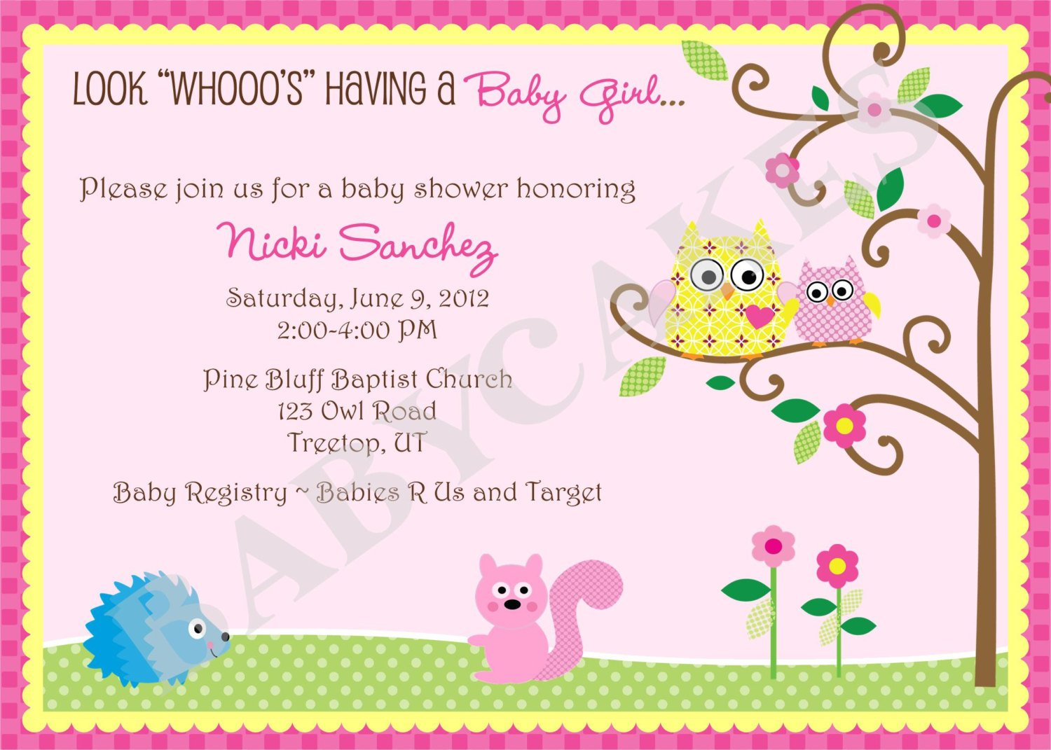 bird make your own baby shower invitations free