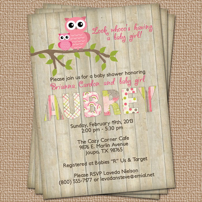 owl baby shower invites idea