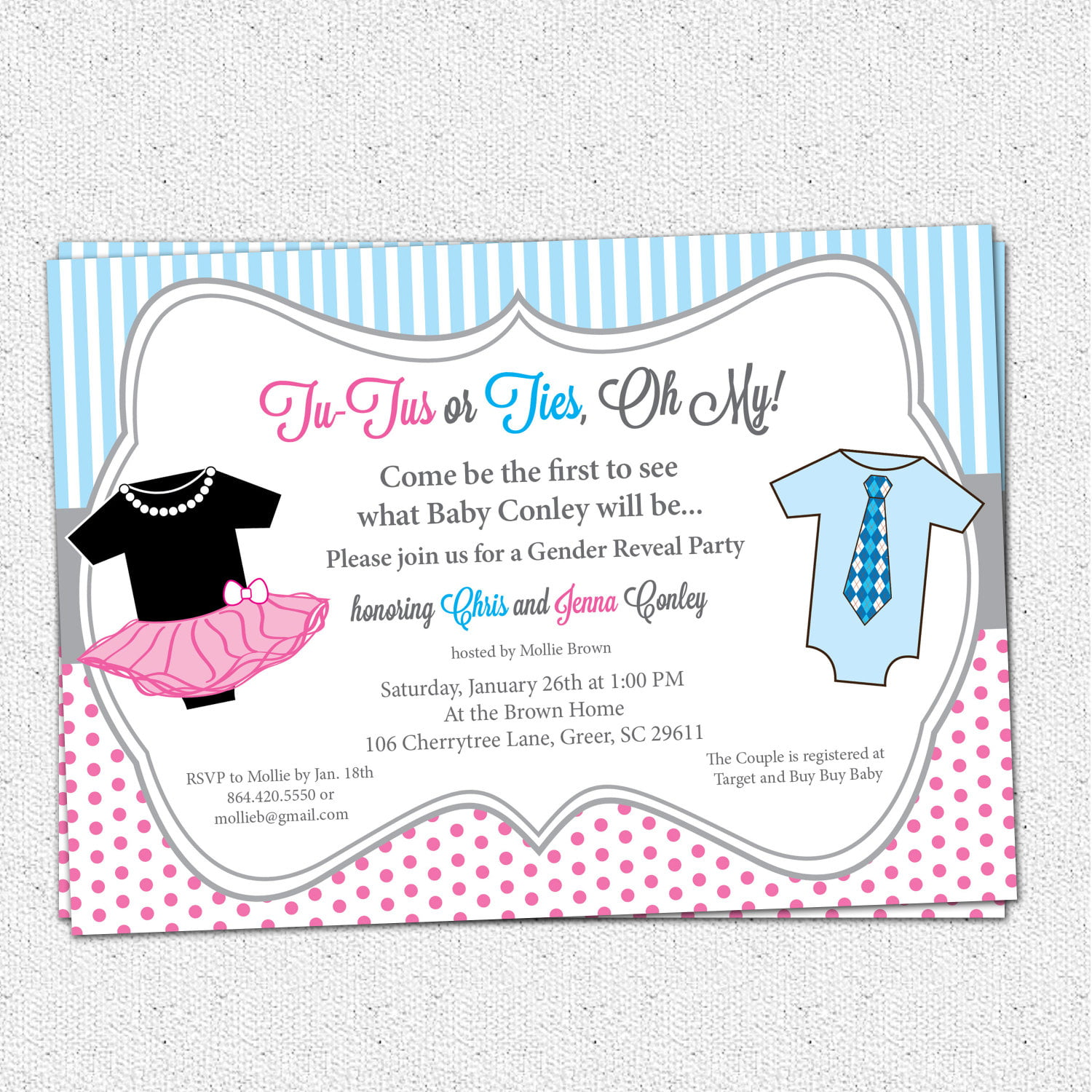 dress how to make your own baby shower invitations