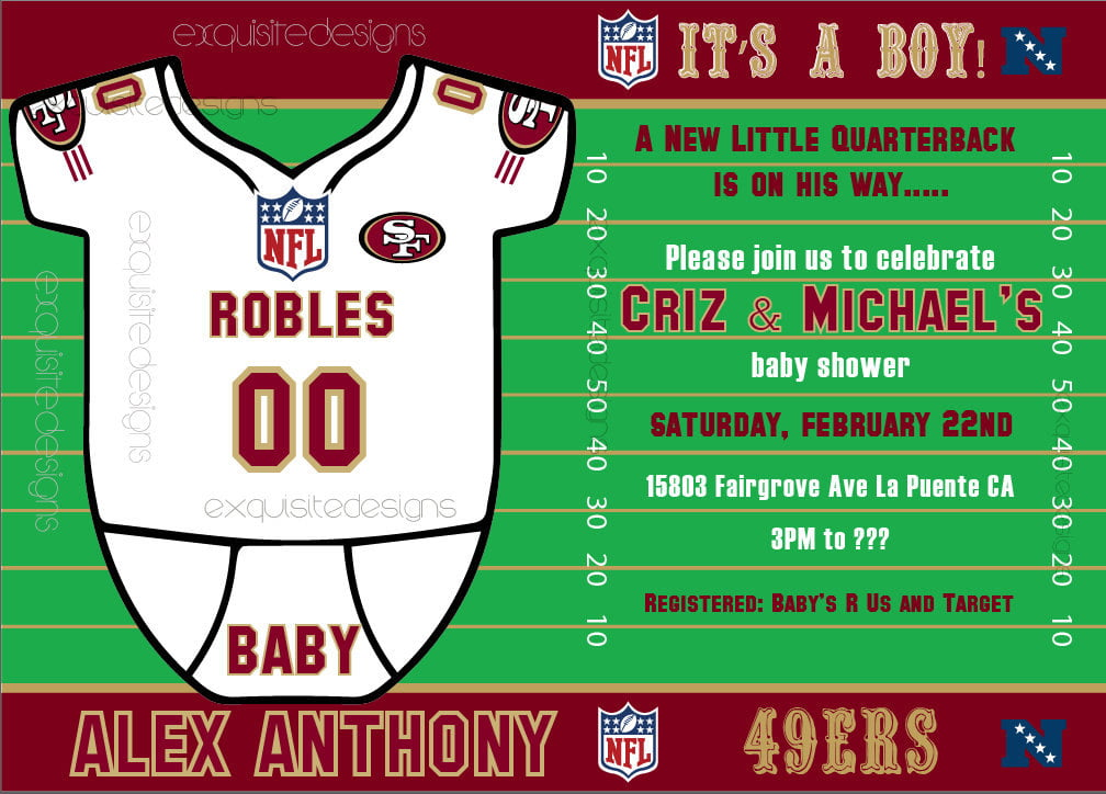 football baby shower invites idea
