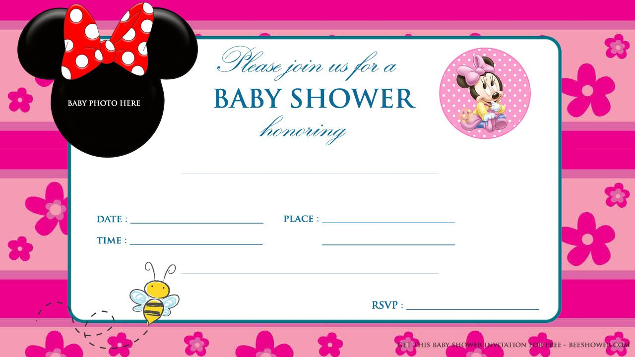 Free Printable Minnie Mouse Baby Shower Invitation