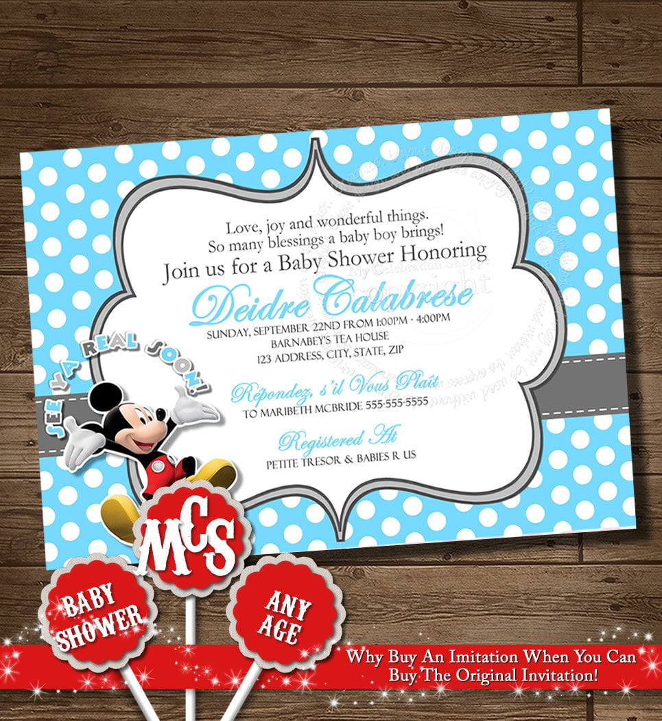 Blank Mickey Mouse Baby Shower Invitations Free