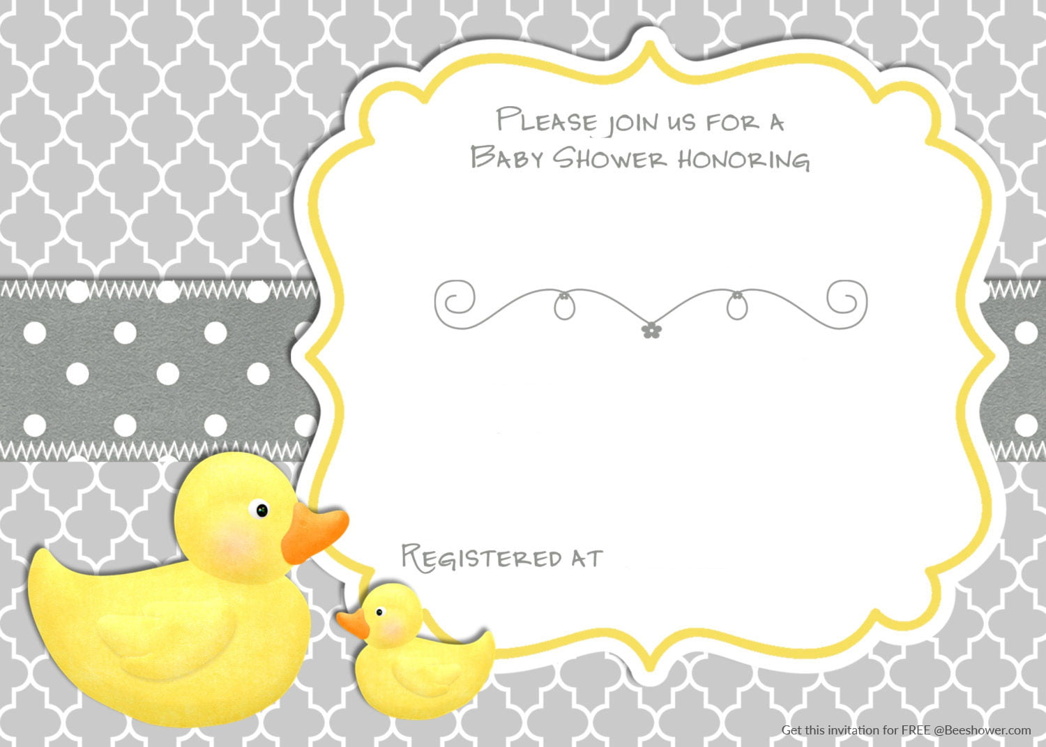 printable rubber duck baby shower invitation baby shower for parents