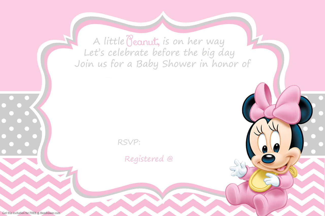 minnie mouse baby shower invitation baby shower for parents