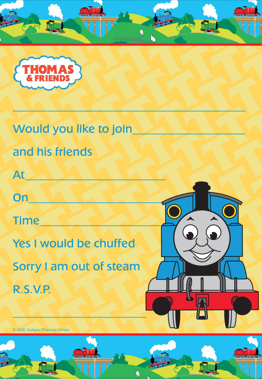thomas the train baby shower invitation ideas