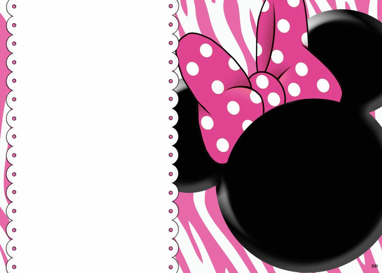 Image Of Customized Minnie Mouse Baby Shower Invitations Baby Shower ...