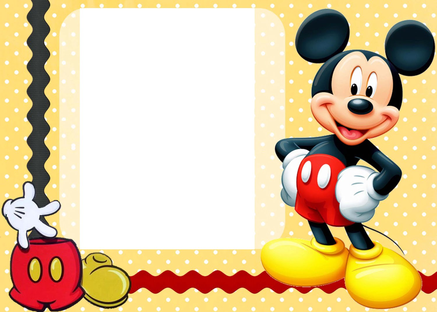 Free Printable Custom Mickey Mouse Baby Shower Invitation Template | Baby Shower for Parents
