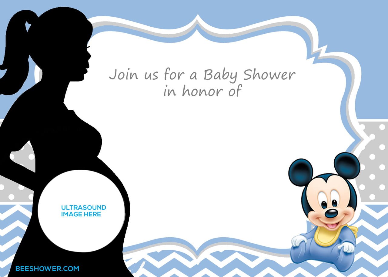 photo about Printable Mickey Mouse Invitations identify No cost Printable Mickey Mouse Youngster Shower Invitation Template