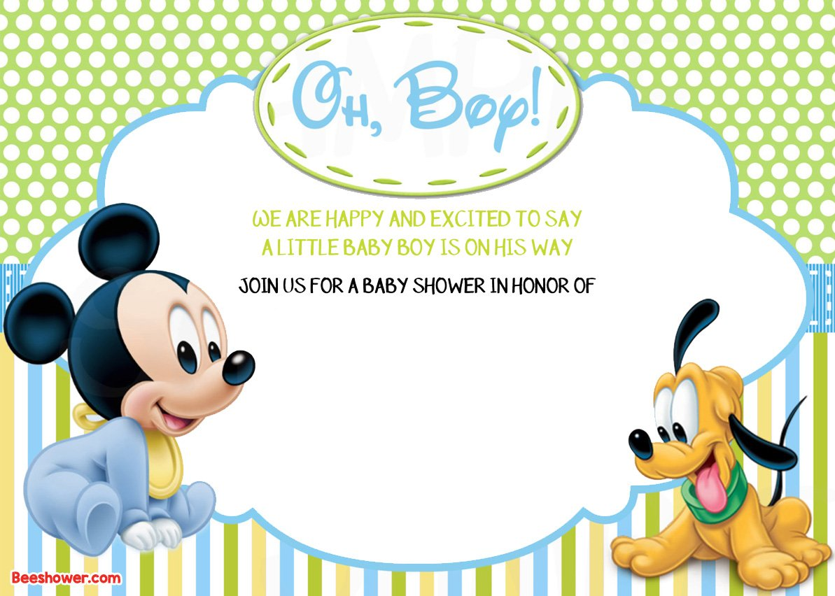 You Can Add Some Text And Photo On It With Fancy And Popular Mickey Mouse  Font. How To Download Mickey Mouse Baby Shower ...