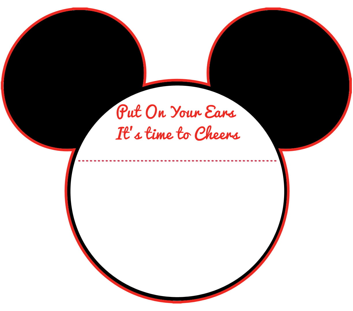 graphic relating to Free Printable Mickey Mouse Head Template referred to as Clean! Absolutely free Printable Mickey Mouse Child Shower Invitation