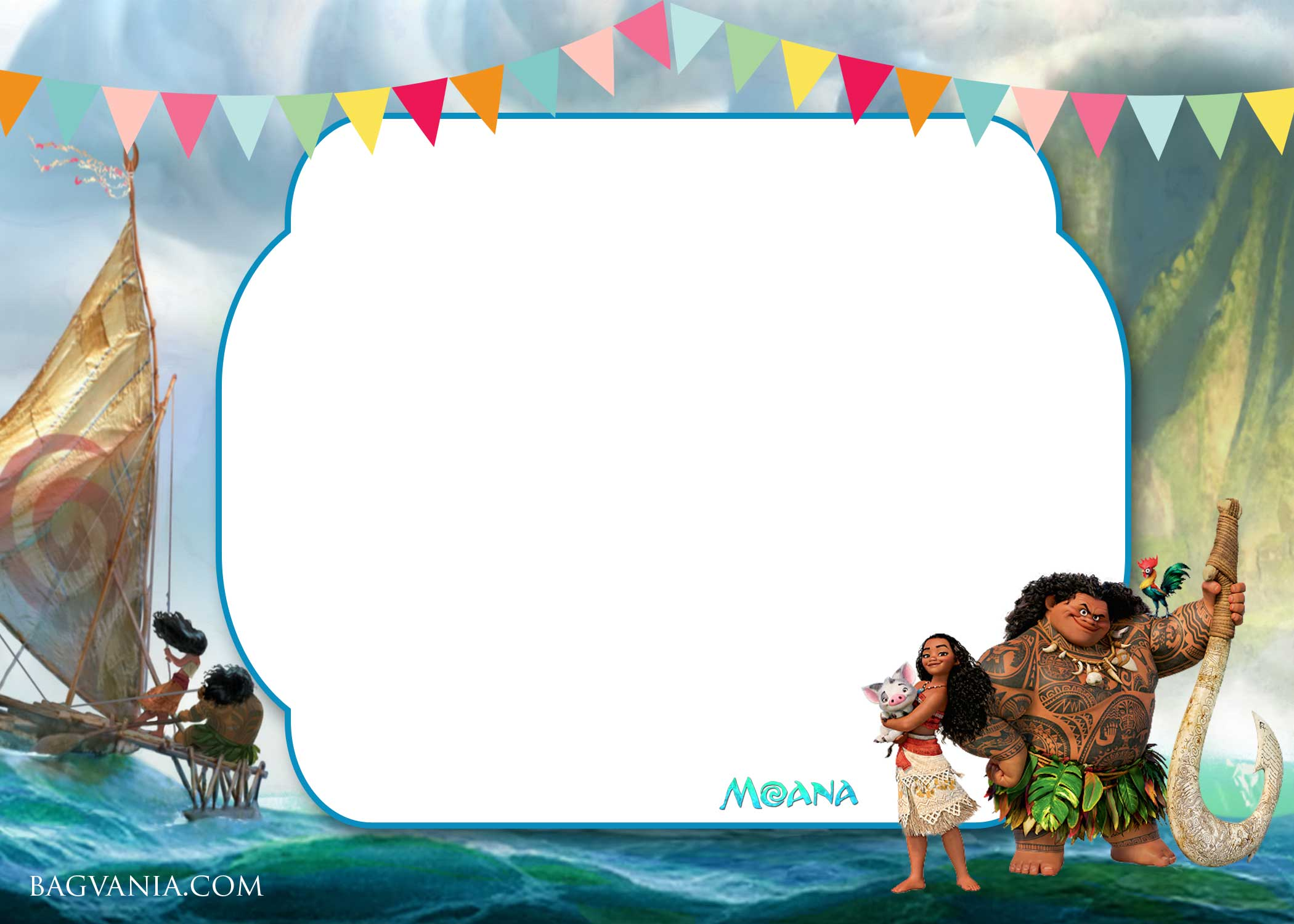 FREE Moana Baby Shower Invitation template | | FREE ...