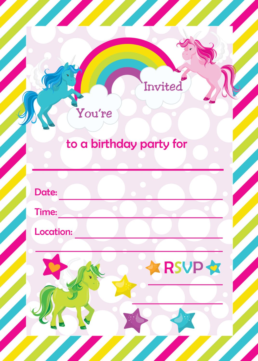 free unicorn baby shower invitation templates