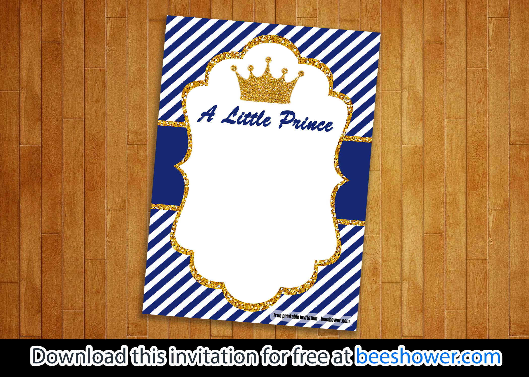 Gorgeous image regarding free printable prince baby shower invitations