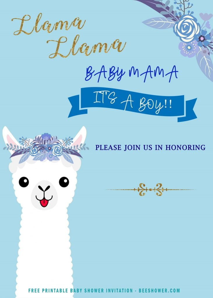 12 free printable llama invitation templates