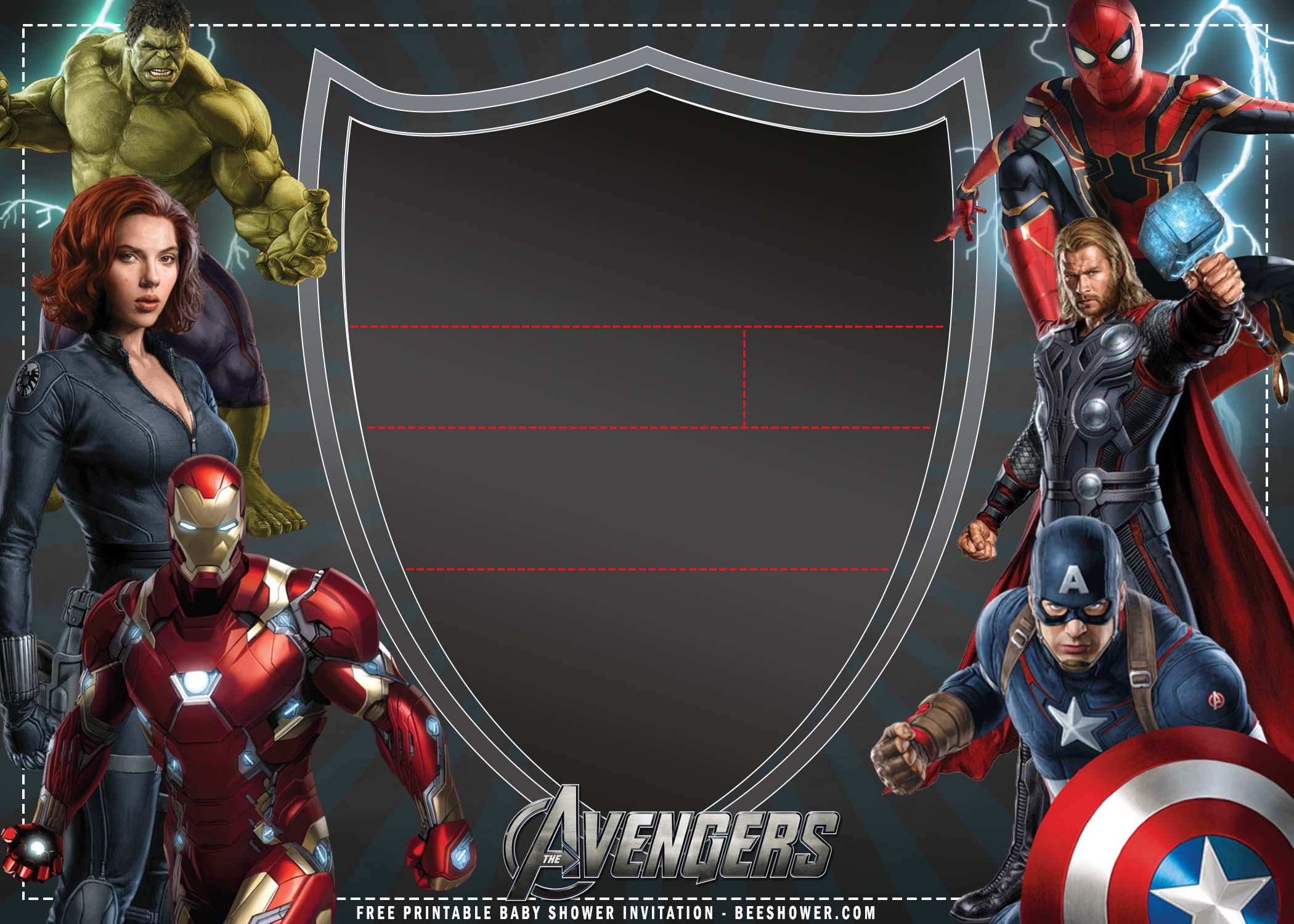 FREE Printable) – Avengers Birthday Invitation Templates  FREE