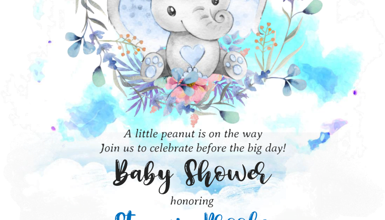 Watercolor Baby Elephant – A