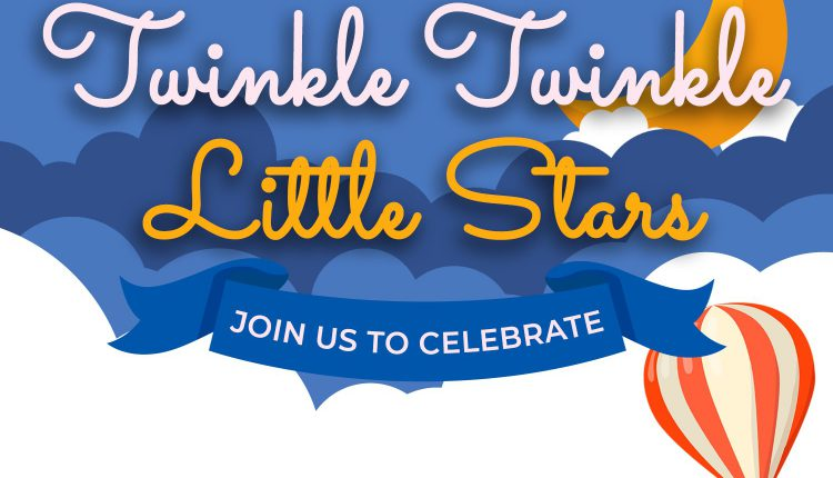 10+ Cute Twinkle Twinkle Little Stars And Moon Birthday Invitation Templates