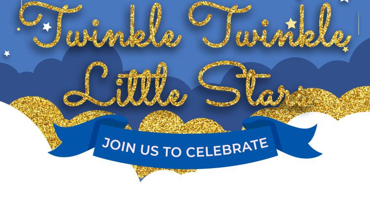 10+ Dazzling Gold Glitter Clouds Twinkle Twinkle Little Stars Birthday Invitation Templates