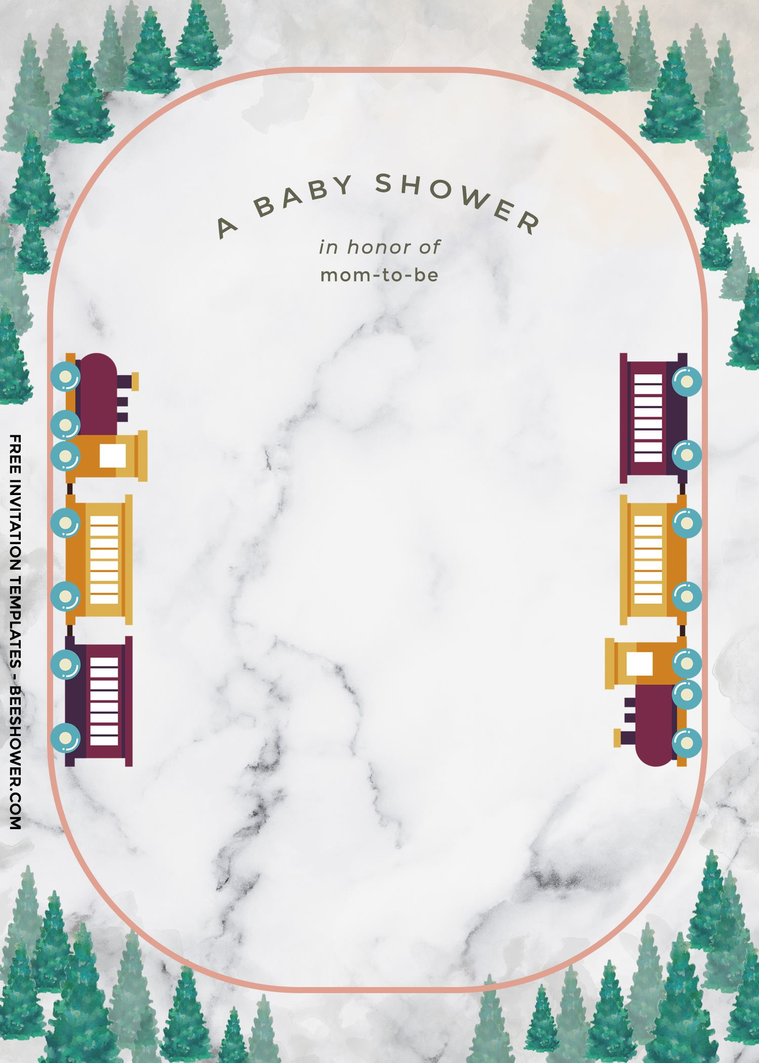 8+ Cute Train Themed Baby Shower Invitation Templates For Boys
