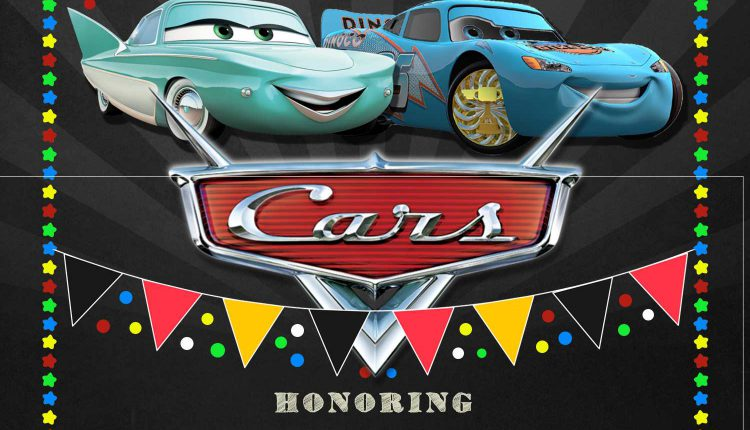 9+ Disney Cars Chalkboard Baby Shower Invitation Templates