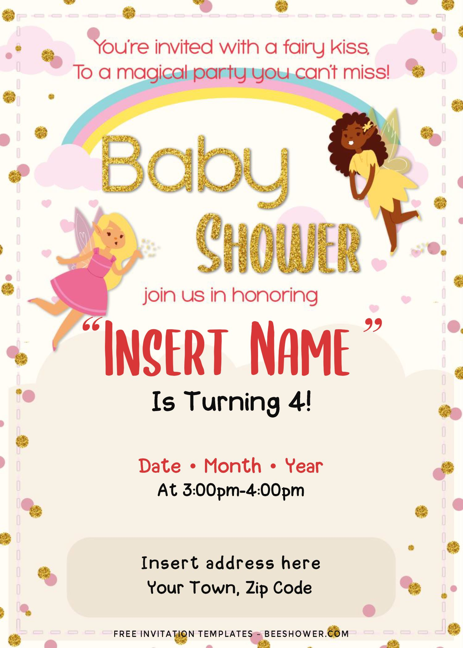 Free Magical Fairy Birthday Invitation Templates For Word