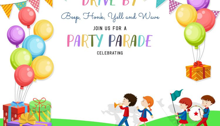 7+ Fun Drive By Birthday Invitation Templates
