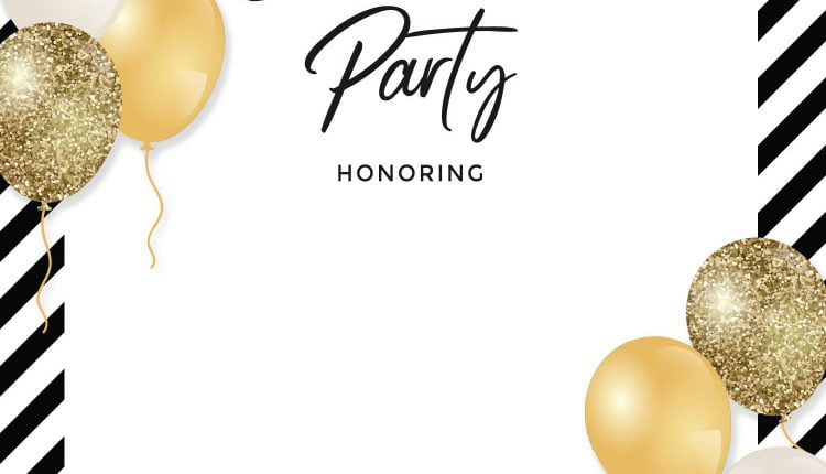 7+ Sparkling Elegant Gold Balloons Baby Shower Invitation Templates
